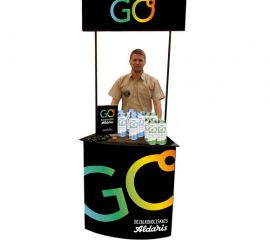 GO tasting booth